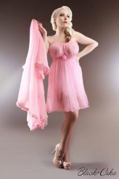 vintage-hot-pink-peignoir-set-black-cake-clothing-462x693